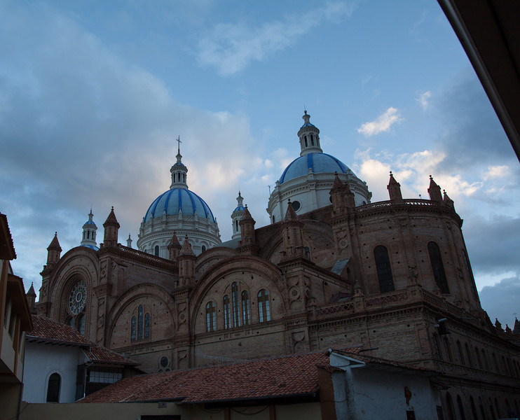 The domes of the new cathedral.
