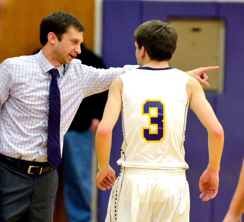 . Jeff Forman/JForman@News-Herald.com Freiling takes direction from coach Keith Clapacs.