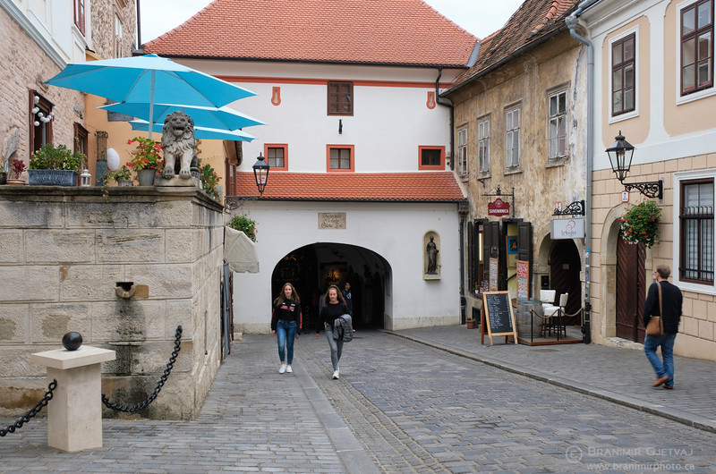 Stone Gate (Kamenita vrata) in the historic Upper Town of Zagreb, Croatia