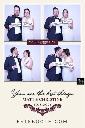 2021-10-8 Christine & Matt