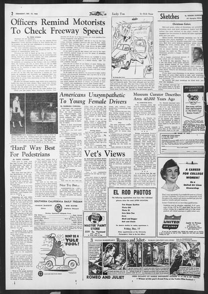 Daily Trojan, Vol. 46, No. 62, December 15, 1954