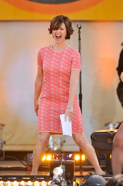 """. NEW YORK, NY - JUNE 21:  Elizabeth Vargas hosts ABC\'s \""""Good Morning America\"""" at Rumsey Playfield on June 21, 2013 in New York City.  (Photo by D Dipasupil/Getty Images)"""