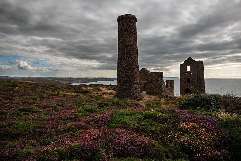 Ruined Tin mine.   Cornwall, England, 2018