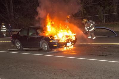 Bridgeport Ave. Car Fire (Shelton, CT) 11/11/17