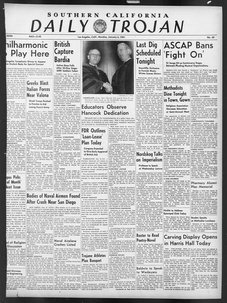 Daily Trojan, Vol. 32, No. 65, January 06, 1941