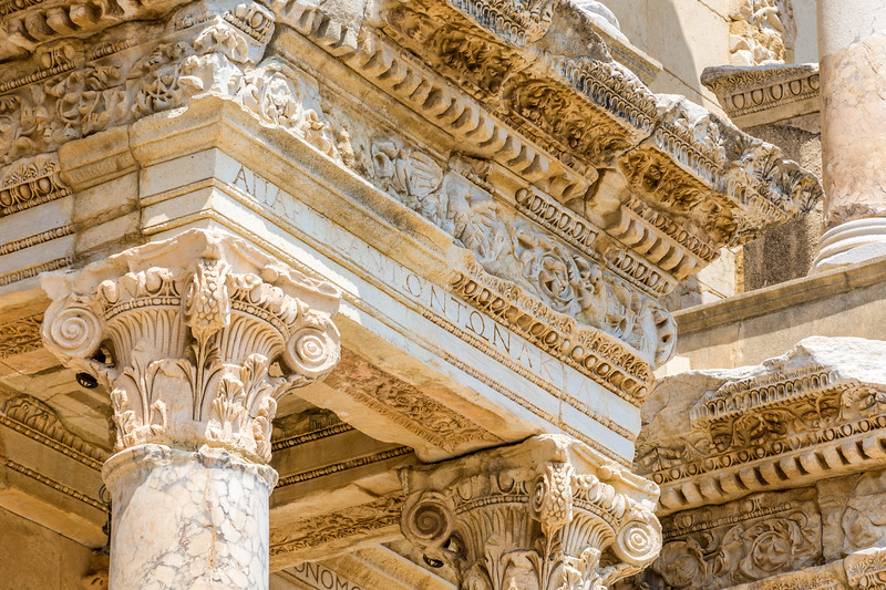 Detail of the Library of Celsus