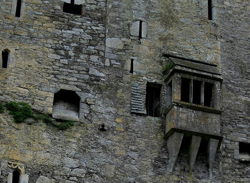 Bay window on Blarney Castle.