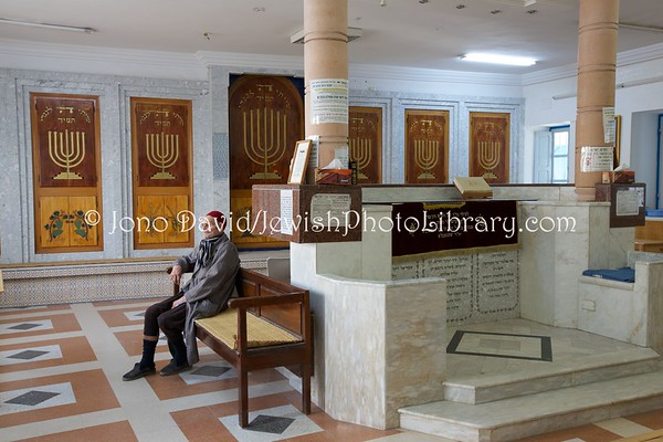 TUNISIA, Djerba, Hara Kebira. Synagogue Trabelsia (3.2016)