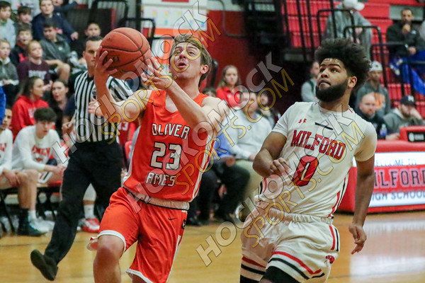 Milford-Oliver Ames Boys Basketball - 01-21-20