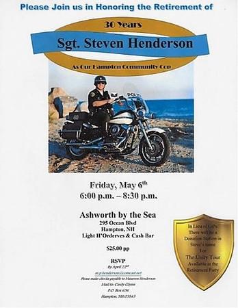 2016-5-6 Sgt. Steven Henderson 30 Years HPD
