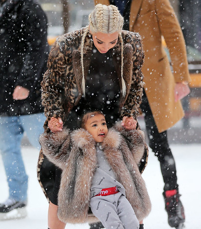 2016-02-15 - Kim Kardashian, North West