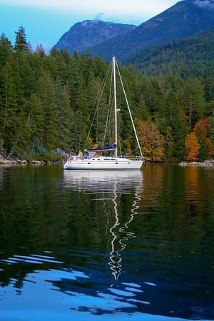 Sailing in British Columbia
