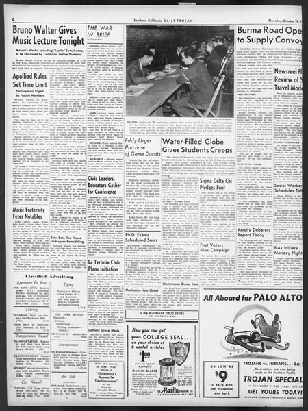 Daily Trojan, Vol. 32, No. 25, October 17, 1940