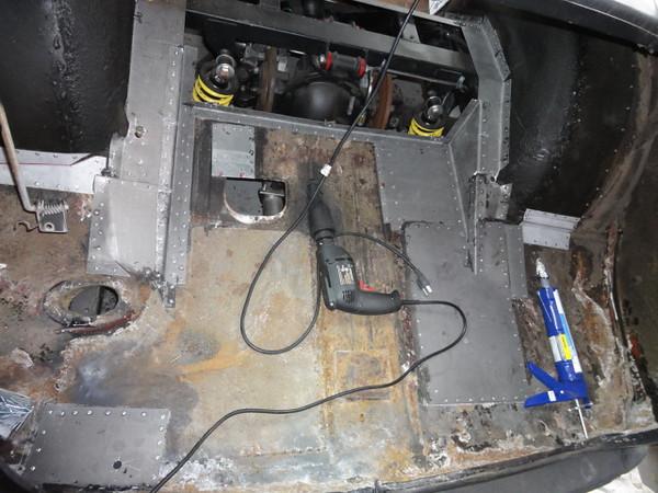 Removing Body, Rebuilding floor, Tubbing