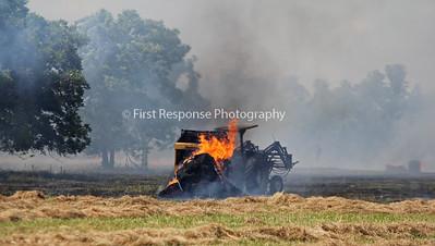 Princeton Texas grass/ equipment fire CR 561 6/25/16