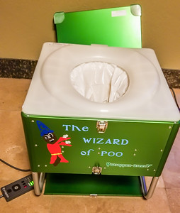 The Wizard of Poo Wrappon Green Toilet