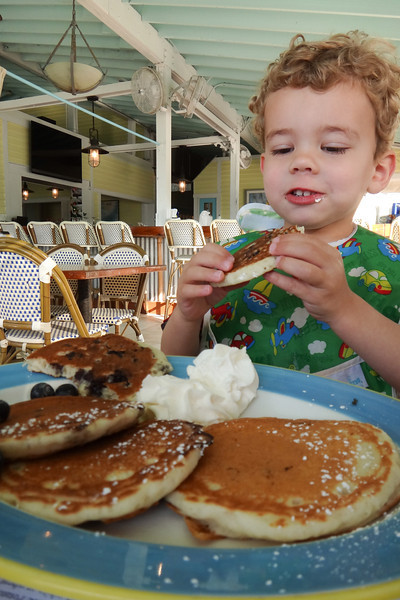Just when he thought blueberry pancakes could get no better, Ty discovers whipped cream