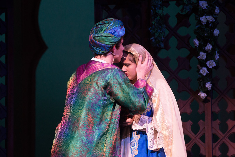 Hajj urges Marsinah to flee -- Kismet, Montgomery Blair High School spring musical, April 15, 2016 performance (Silver Spring, MD)