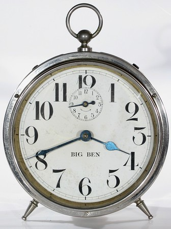 Dials of Westclox Big Ben Style 1 and 1a Alarm Clocks