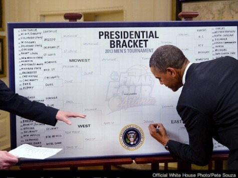 """. <p>6. NCAA BRACKETS <p>A great diversion if you really suck at your day job. (7) <p><b><a href=\'http://www.usatoday.com/story/theoval/2014/03/18/obama-ncaa-tournament-brackets-andy-katz-college-basketball/6559295/\' target=\""""_blank\""""> HUH?</a></b> <p>   (White House photo)"""