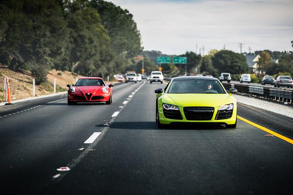 Norcal Exotics, Lamborghini of SF, Silicon Valley Garage Drive to Santa Cruz