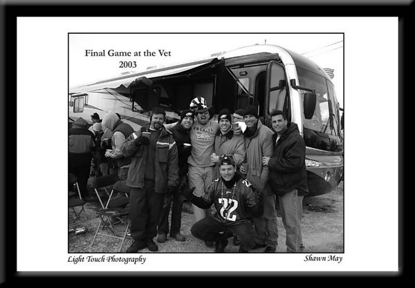 Last Eagles game at the Vet