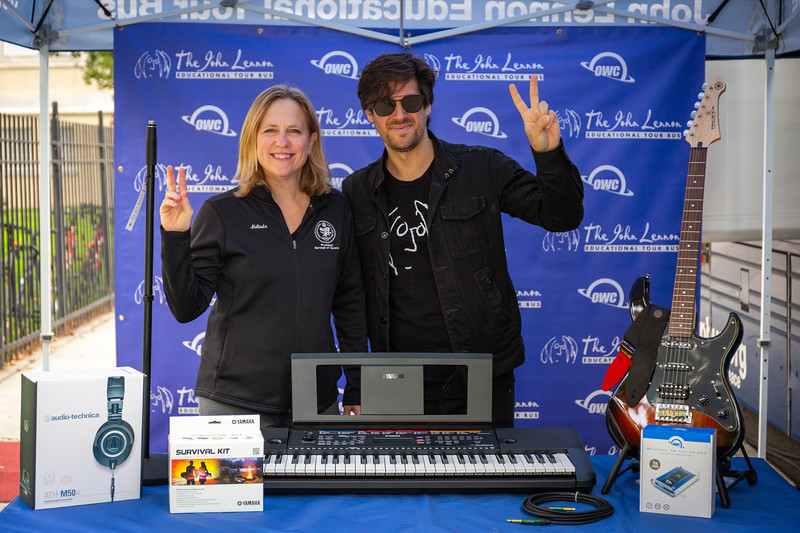 2018_09_24, Audio-Technica, Copper Peace, Grover Cleveland High School, K&M, Matt Reich, Melinda Katz, Neutrik, NY, OWC, Ridgewood, Tents, Yamaha