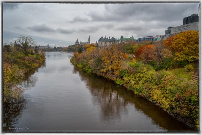 Looking Towards Parliament From the Portage Bridge Ottawa