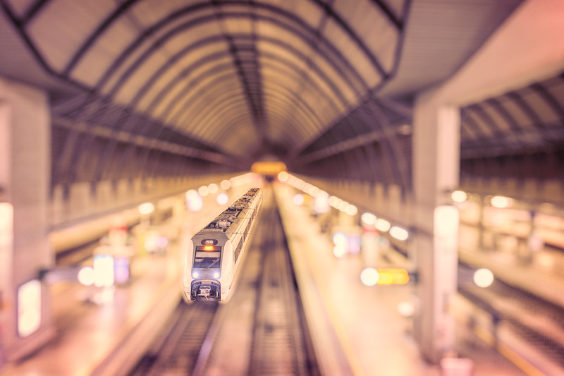 Train, Santa Justa Railway Station, Seville, Spain.