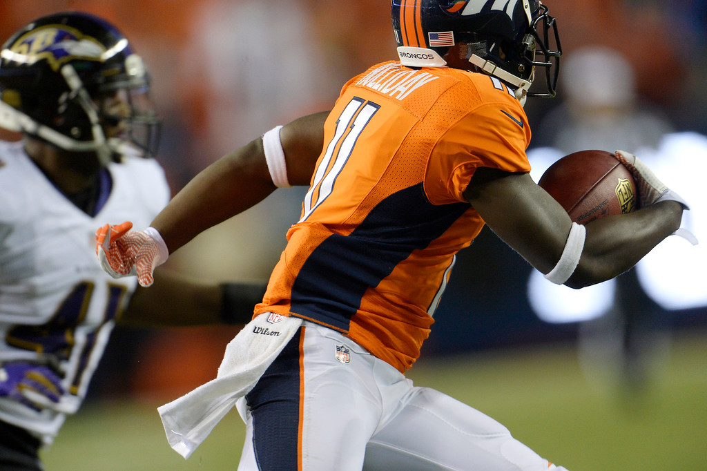 . Denver Broncos wide receiver Trindon Holliday (11) runs during the third quarter. Denver Broncos Baltimore Ravens September 5, 2013 at Sports Authority at Mile High. (Photo by Joe Amon/The Denver Post)