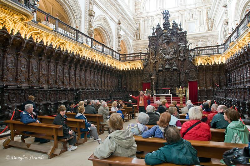 Thur 3/10 in Cordoba: The choir room inside the Mezquita