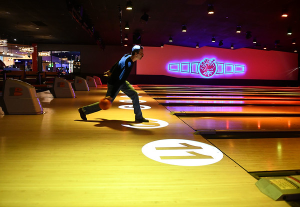 11/21/2019 Mike Orazzi | StaffrKevin Perri while bowling at Spare Time in Bristol.