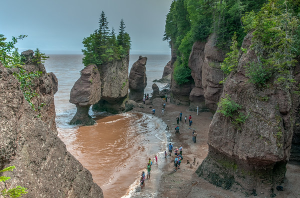 Hopewell Rocks in New Brunswick Canada - July 3, 2014