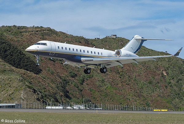 Global Express XRS VH-SGA at Wellington 2019