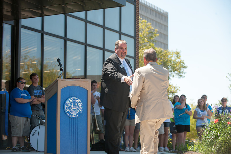 private luncheon and dedication ceremony of the John W. Moore Welcome Center.