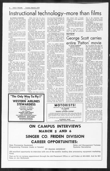 Daily Trojan, Vol. 61, No. 84, March 03, 1970