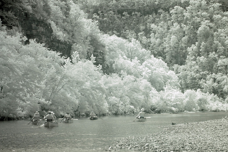 Infrared shot of our departure.