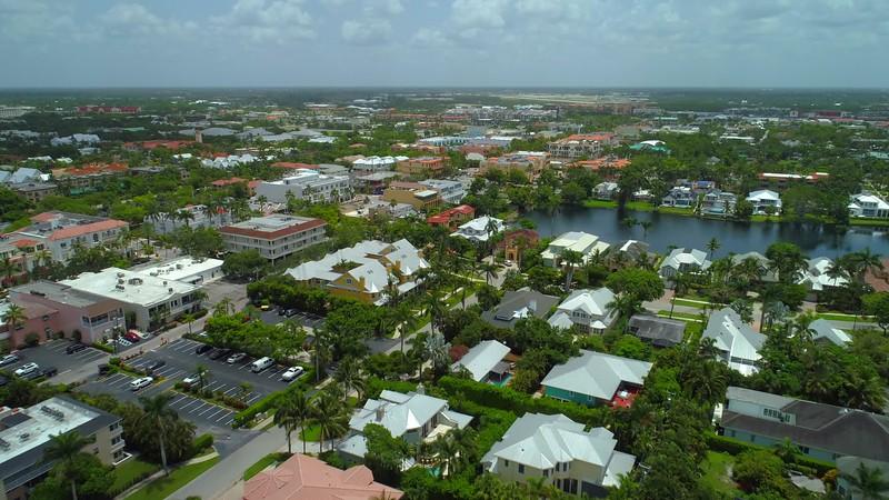 Aerial video Downtown Naples Florida