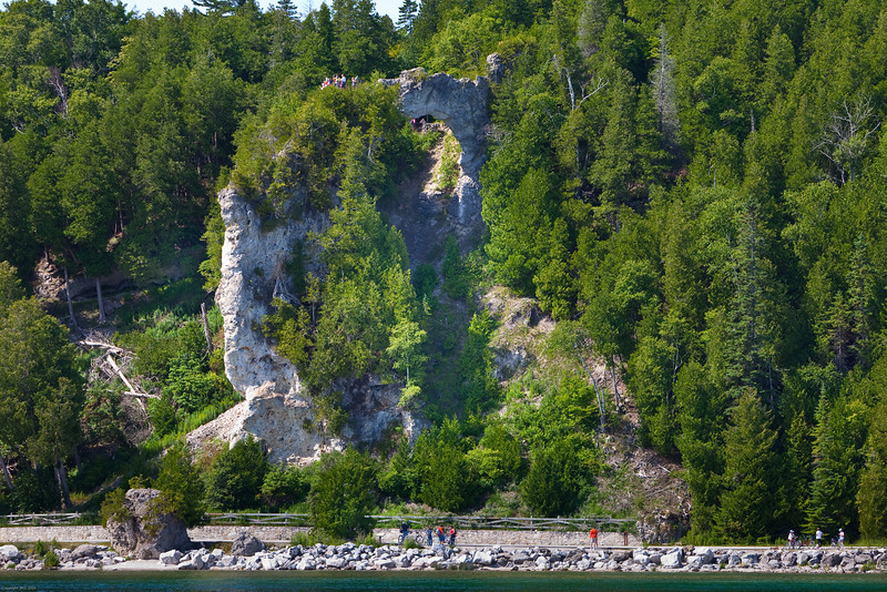 Arch Rock on the east shore of Mackinac I