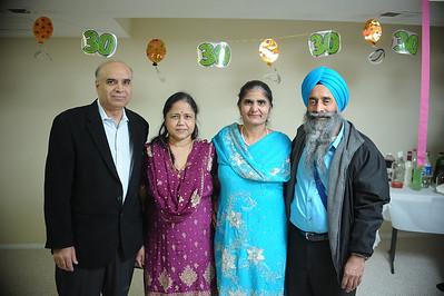 Harjeet, Pargat, Balvinder, Manjit 30th Anniversary