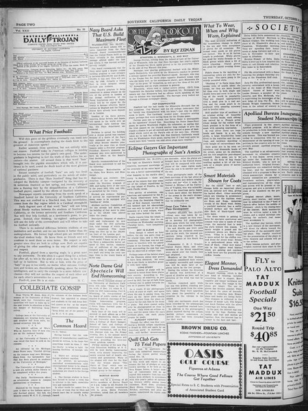 Daily Trojan, Vol. 22, No. 30, October 23, 1930