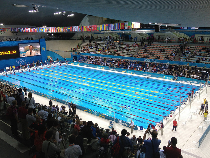 Day 5 - Swimming.  We got to hear the national anthem for the first time, in fact twice.