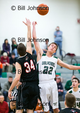 B Basketball Wellesley v Westwood 2_18_14