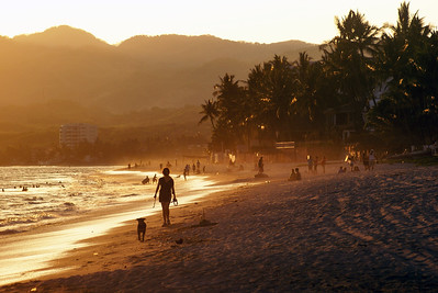 Evening Light on Bucerias Beach, Mexico