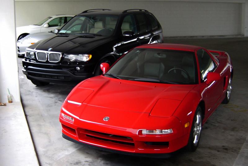 Today I park next to Justin's BMW X5