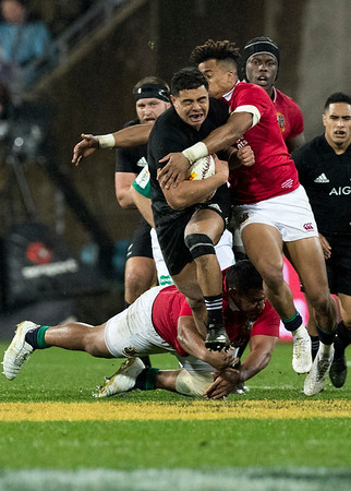 Anton Lienert-Brown  during game 9 of the British and Irish Lions 2017 Tour of New Zealand, the second Test match between  The All Blacks and British and Irish Lions, Westpac Stadium, Wellington, Saturday 1st July 2017 (Photo by Kevin Booth Steve Haag Sports)  Images for social media must have consent from Steve Haag