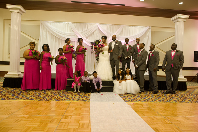 The wedding of Ebone Watkins-Cobb and Martin Cobb