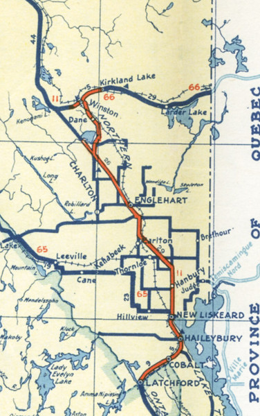 Ontario Official Highway Map 1942