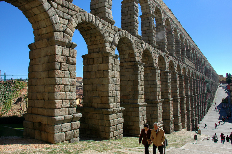 The Aqueduct of Segovia, Spain