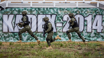 Counter terrorist action and AFV demo at KADEX 2014
